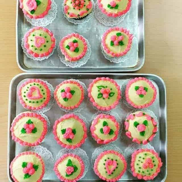 cupcakes with decorations